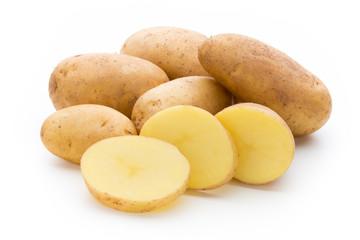 New potato isolated on the white background.