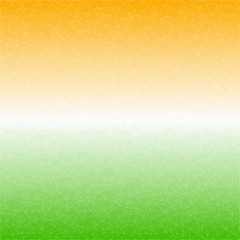 Indian Flag in geometric style. Vector illustration concept Indian Independence Day. Polygon background.