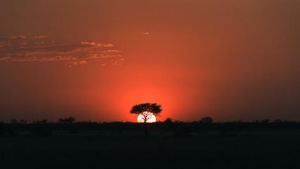 Namibian sunset.