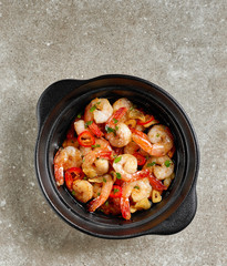 spicy garlic prawns
