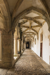 The Convent of Christ is a former Roman Catholic monastery in Tomar Portugal.