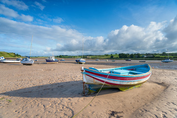 Wall Mural - Boats at Alnmouth in Northumberland