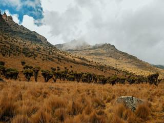Rock formations at Mount Kenya, Kenya