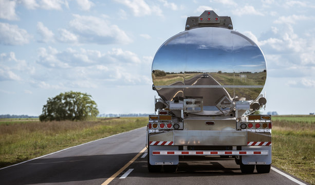 Gasoline truck delivery