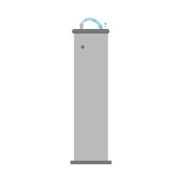 Cute cartoon vector illustration of a drinking fountain