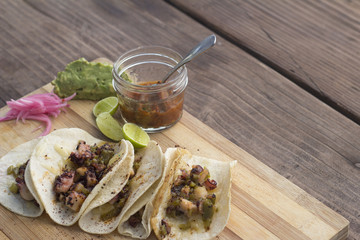 Rib eye tacos