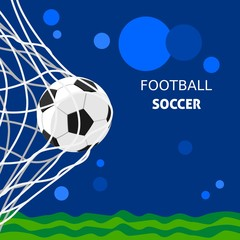Editable Football Vector Illustration for Text Background