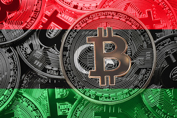 Search photos libya flag stack of bitcoin libya flag bitcoin cryptocurrencies concept btc background ccuart Choice Image