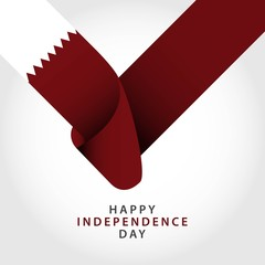 Happy Qatar Independence Day Vector Template Design Illustration
