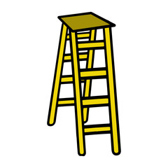 Ladder cartoon illustration isolated on white background for children color book