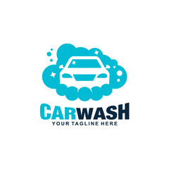 Car Wash and Cleaning Logo Vector Template