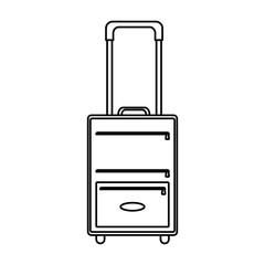 line luggage object style to business travel