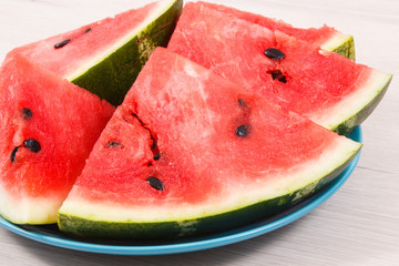 Natural watermelon as source vitamins and minerals, concept of healthy juicy dessert