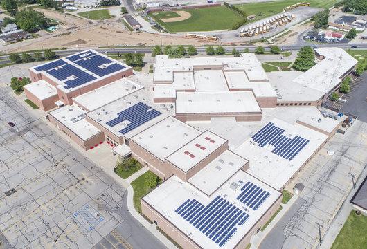 Goshen High School Solar panels