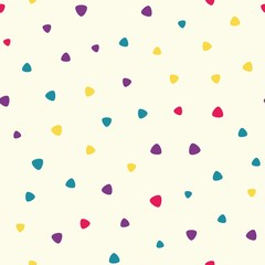 Seamless pattern with triangles on a beige background
