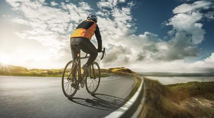 Radsportler beim Training