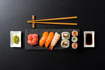 Japanese sushi. Close up