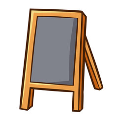 Funny and cute wooden blank standing menu board for your cafe - vector