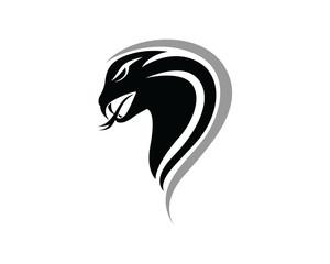 viper snake logo design element. danger snake icon. viper symbol