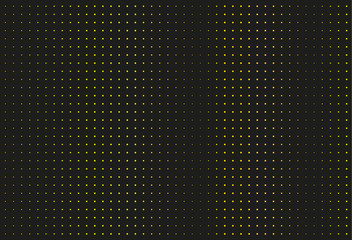 Black and yellow halftone background. Vector illustration