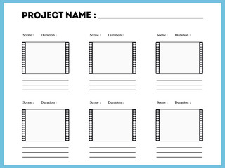 film storyboard composition scene template