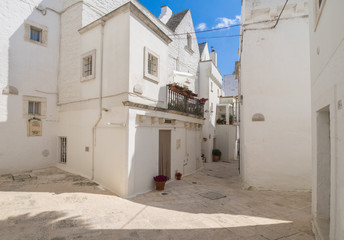 Locorotondo (Puglia, Italy) - The gorgeous white town in province of Bari, chosen among the top 10 most beautiful villages in Southern Italy. Here a view of historic center.