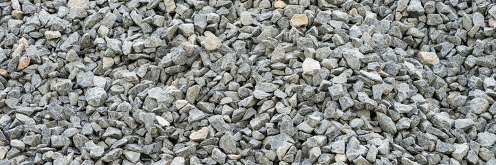 Gray gravel stones for the construction industry Wall mural