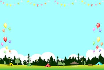 キャンプ場 パーティー