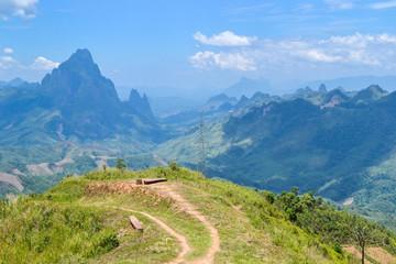Phu Peang Fah view point in Vang Vieng, Laos