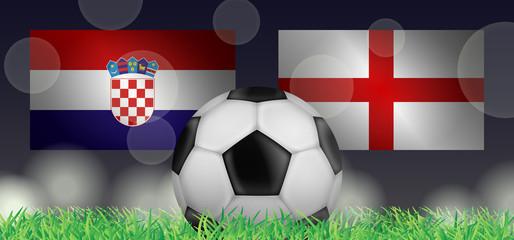 Fußball 2018 - Halbfinale (Kroatien vs England)