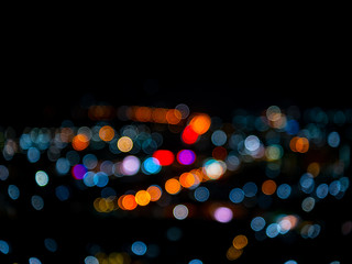 blurred bokeh light defocused background and textured for Christmas , New Year holidays party and celebration background wallpaper