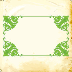 Vector baroque of vintage elements for design.