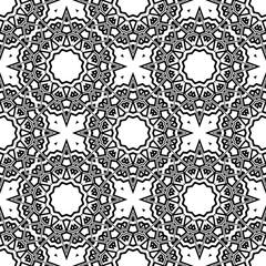 Modern stylish Decorative Cicle Vector Shapes. Floral mandala. Vector illustration