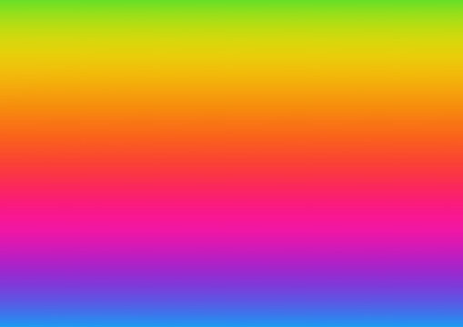 Horizontal abstract background with rainbow gradient. Design template of flyer, banner, cover, poster in A4 size. Vibrant color vector illustration.