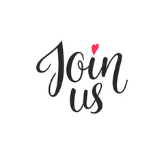 Join us lettering