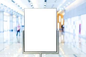 Fotomurales - blank billboard with copy space for your text message or content, advertising mock up banner in conventon hall, public information board