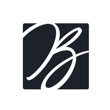 Creative b letter vector logo design. Monogram vector sign. Character logotype symbol. Icon design