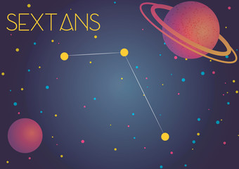 The constellation Sextans