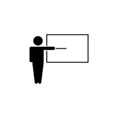 Teacher icon. Vector illustration