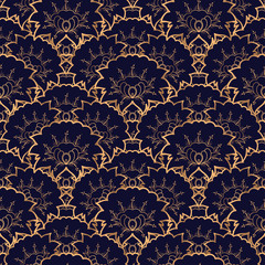 Luxury background vector. Floral royal pattern seamless. Mexican design for yoga wallpaper, beauty spa salon ornament, indian wedding party, birthday wrapping paper, bridal, holiday birthday gift.