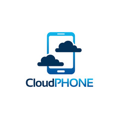 Cloud Phone logo template designs concept, Online Phone logo template