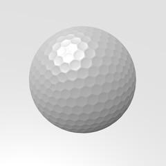 3D Golf ball isolated on white background. golf ball sign.