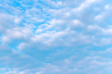 blue sky and white clouds, white clouds on blue background