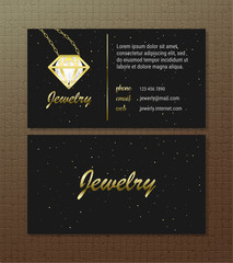 Business card concept. illustration. Bussines card template