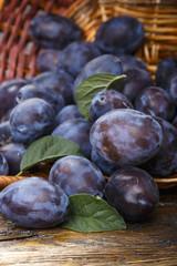 a ripe plum crop