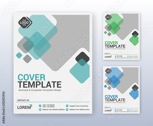 Modern business annual report template Multipurpose flyter