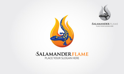 This image is a silhouette of flame incorporate with the salamander