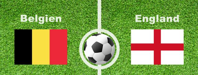 Fußball WM - Belgien gegen England