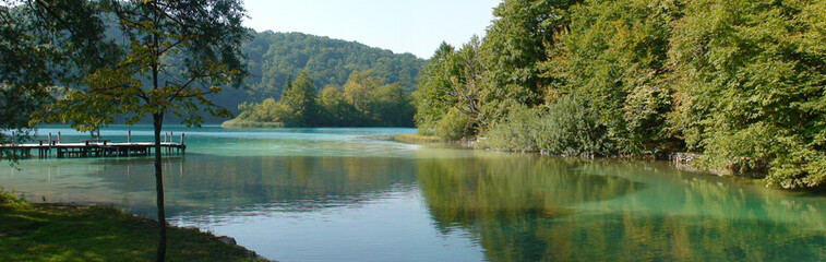 little corner of paradise on Lake Plitvice in Croatia