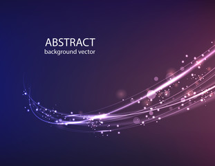 Vector abstract blue motion light effect background.Vector illustration